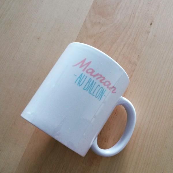 personnalisation de produits mug Maman au Balcon